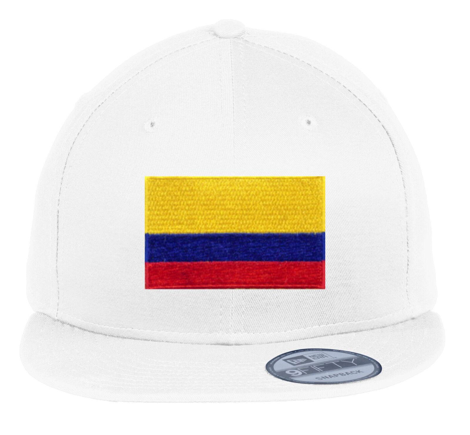 official photos c6236 634ca ... czech new era ne400 snapback flat bill hat cap colors colombia flag  patch 7 colors hat