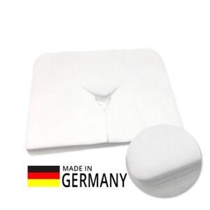 100-St-XL-Massageliegen-Gesichtsauflagen-Vlies-Nasenschlitztuecher-40x30cm
