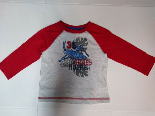 Organic Cotton Baby Boys T-Shirt Assorted Insect Graphics LS 12 18 24 Month