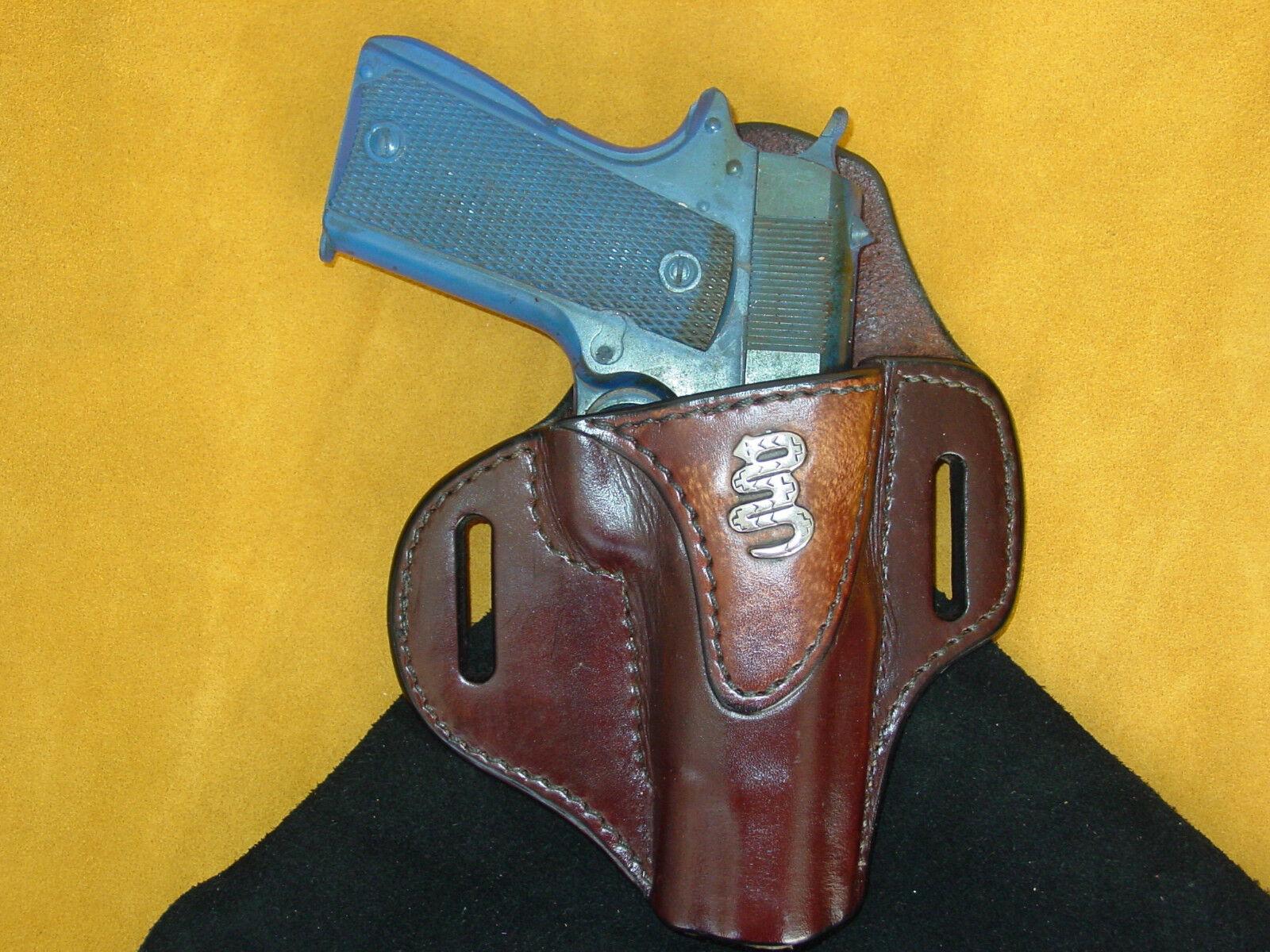 Colt Sig Springfield 1911 completo tamaño 5  Funda Bruñido Marrón Serpiente Kwik y Gratis