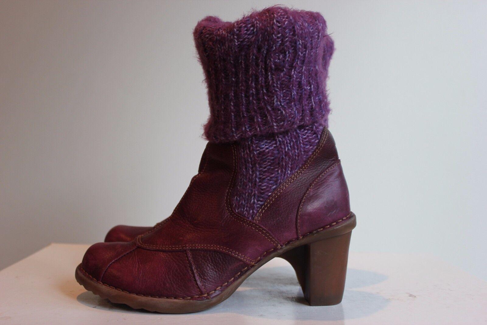 EL NATURALISTA Superschöner purple Echtleder Stiefeletten, Gr. 38, Top Zustand