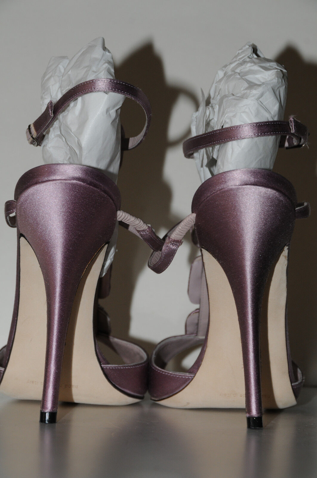 Neuf Femmeolo Blahnik Suw Violet Soirée Soirée Soirée Orné  s 40.5 10.5 10 bf77b9