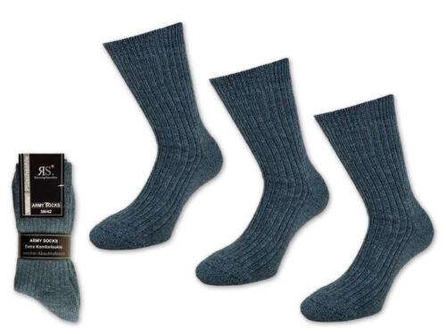 3 a 15 paia calze uomo da in lana esercito da uomo Army Verde norvegesi