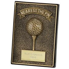 APEX GOLF PLAQUE SOLID RESIN 2D NEAREST THE PIN TROPHY AWARD 12.75cm A1292 SS