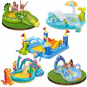 Inflatable Pool Slide Intex intex kids inflatable play centre slide swimming paddling pool