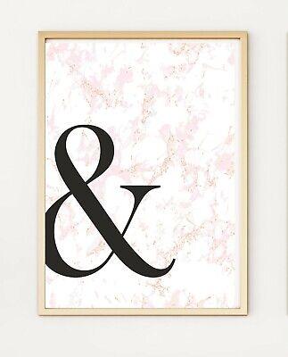 & E Commerciale E Firma Di Marmo Rosa Tipografia A4 Print Poster Po338- Adatto Per Uomini E Donne Di Tutte Le Età In Tutte Le Stagioni