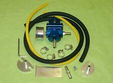 Burstflow Benzindruckregler universal blau mit Manometer einstellbar fuel press
