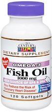 21st Century Omega-3 Fish Oil 1000 mg Softgels 120 Soft Gels