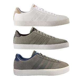 adidas-Court-Vulc-Herren-Freizeitschuhe-Sneaker-grau-weis-khaki