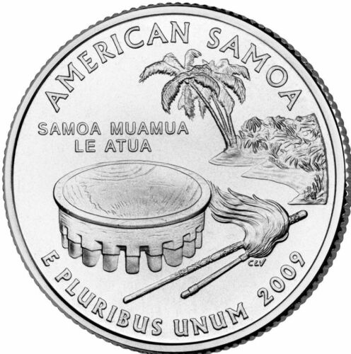Mint Coins Quarter 2009 Philadelphia America Samoa US Territories Coin U.S