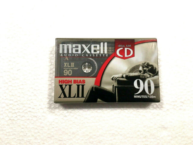 MAXELL XL II 90 vintage audio cassette blank tape sealed Made in Mexico Type II