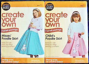 Simplicity It S Sew Easy Sewing Pattern Poodle Skirt Child 3 14