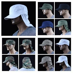 Baseball Cap Hunting Military Army Camo Camping Caps Neck Cover Hat ... 9816c346534