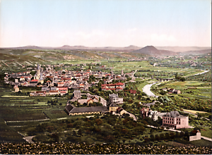 Deutschland-Ahrtal-Ahrweiler-mit-Landeskrone-vintage-print-photochromie-vi