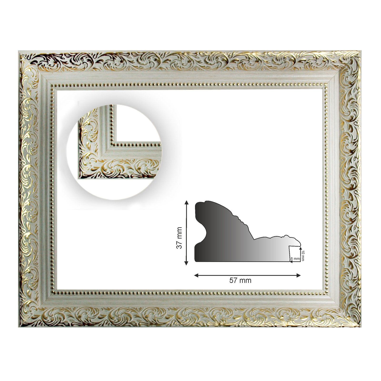 cadre baroque blanc or décoré BIA 469 BIA décoré / ORO, des variantes différentes 03b351