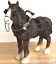 Shire-Cart-Heavy-Horse-in-harness-ornament-figurine-quality-Leonardo-gift-boxed miniatuur 1
