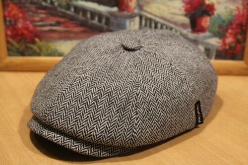 New 8 panel cap Newsboy Ivy ears Wool Hat Landmark Woolen men Made in Russia Cap