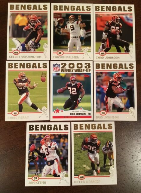 2004 Topps Collection CINCINNATI BENGALS Complete Team set (8) GOLD RARE !!