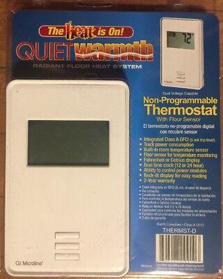 Quiet Warmth Non Programmable Digital Radiant Heat