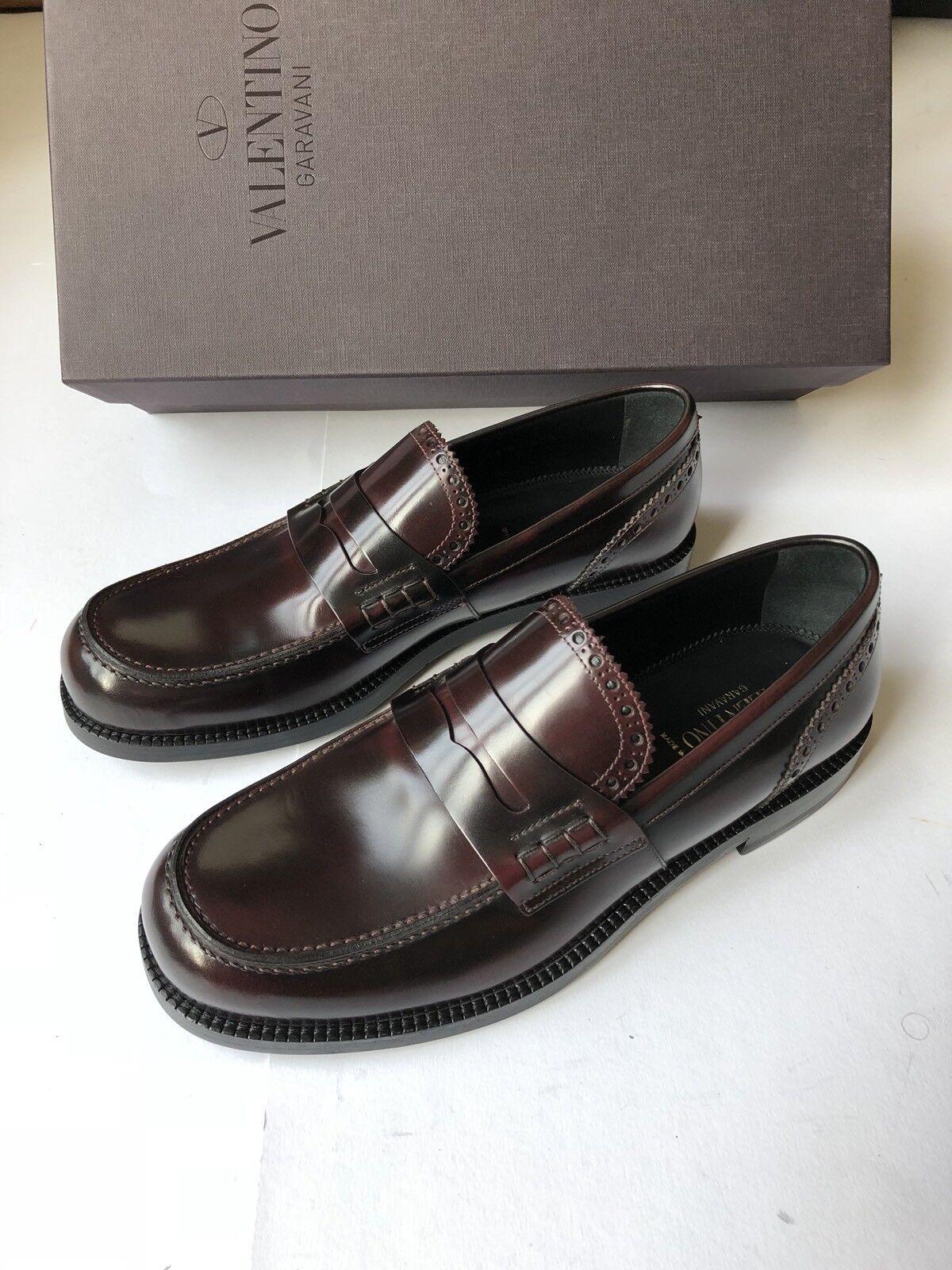 VALENTINO Garavani Leder Loafer/Schuhe rubin EU 40,5 UK 6,5 US 7,5 NEU OVP
