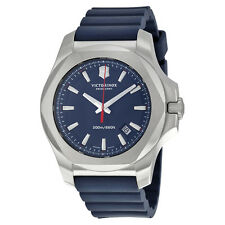 Victorinox Swiss Army Inox Blue Dial Blue Rubber Mens Watch 241688.1