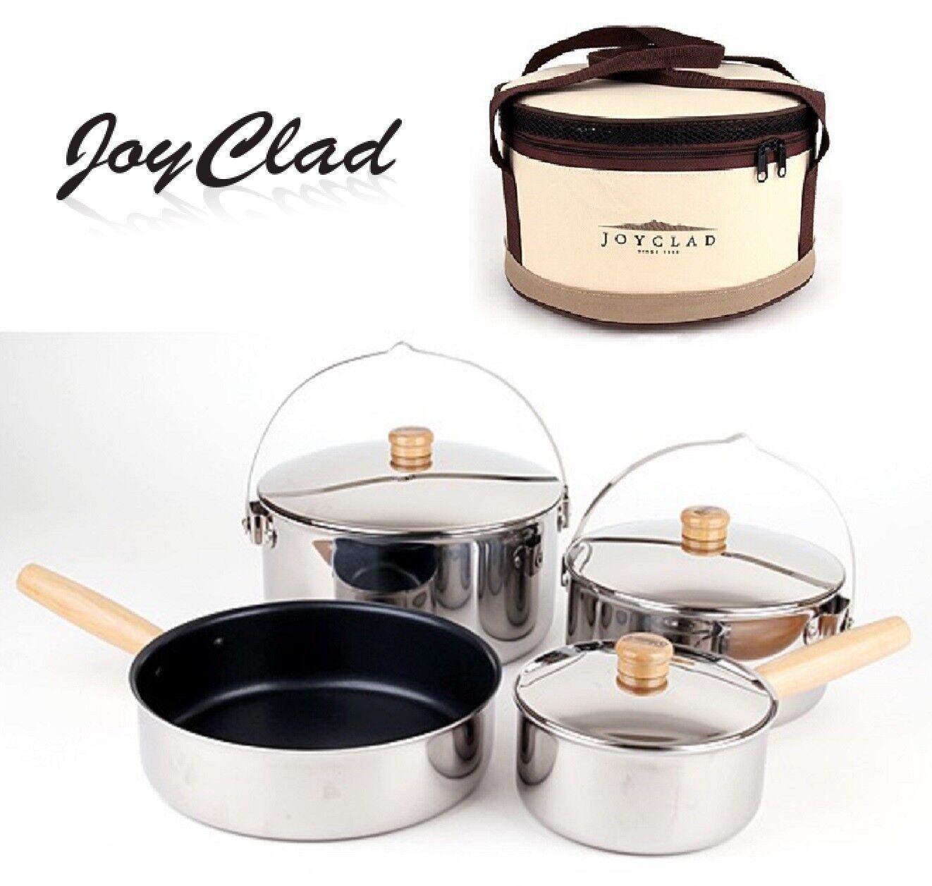 Joyclad Basecamp Camping Utensilios de cocina de acero inoxidable de Kocher Set inofensivos al aire libre