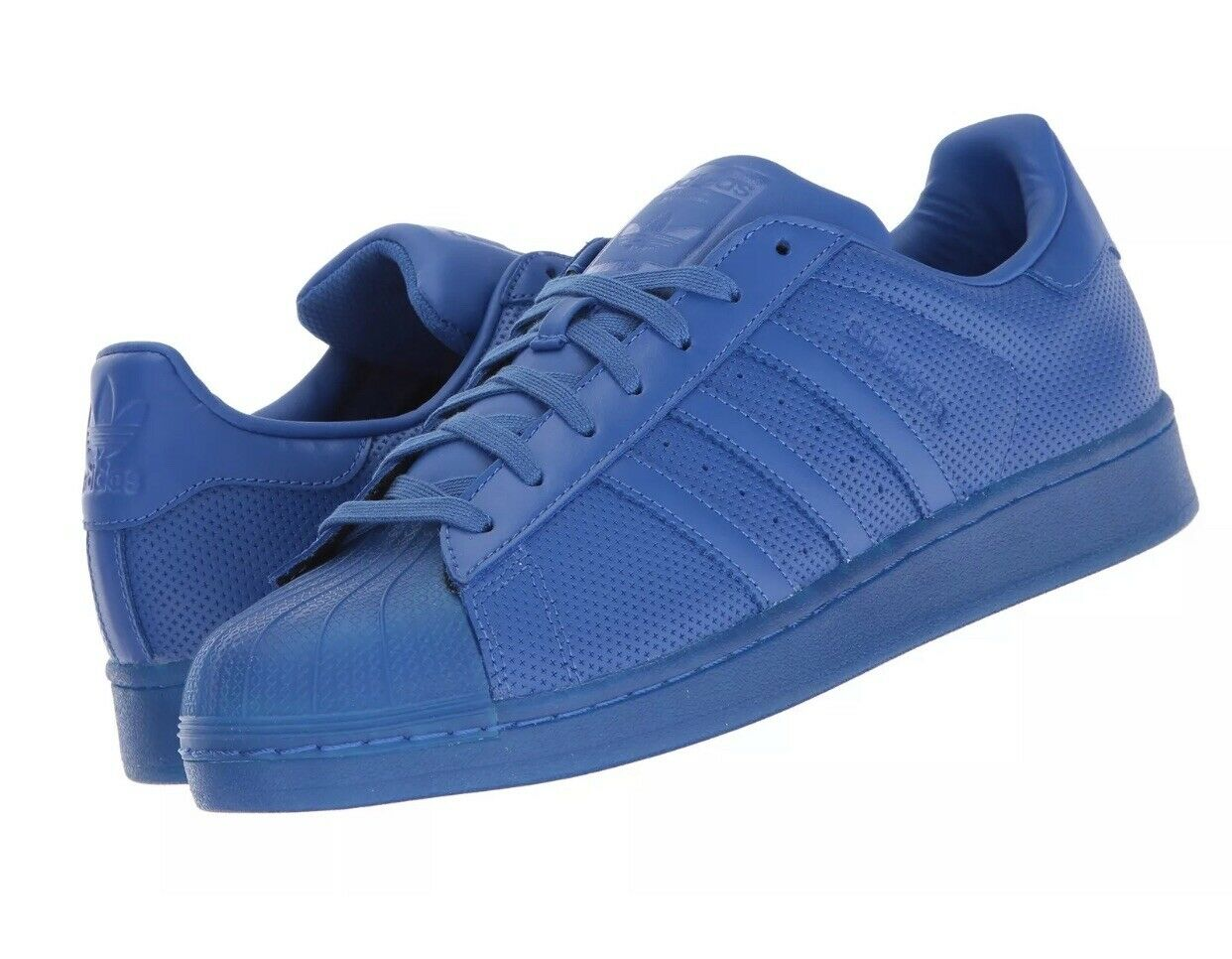 Adidas Originals Men's Superstar Adicolor bluee bluee bluee Size 12 US New In Box