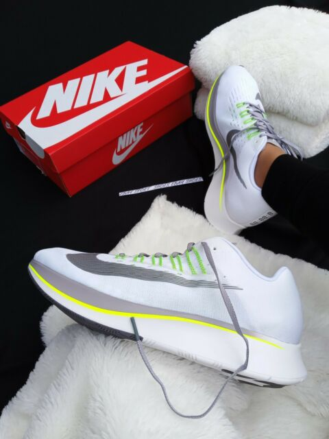 SIZE 6 WOMEN'S NIKE Air Zoom Fly gray white 897821 101 RUNNING MAX 90