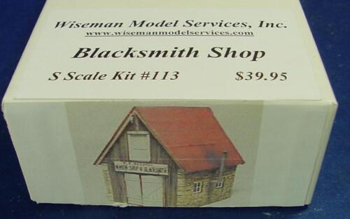 S//Sn3 WISEMAN MODEL SERVICES S4013 BLACKSMITH SHOP CRAFTSMAN STRUCTURE KIT