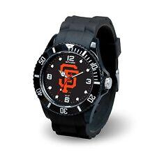 San Francisco Giants MLB Baseball Team Men's Black Sparo Spirit Watch