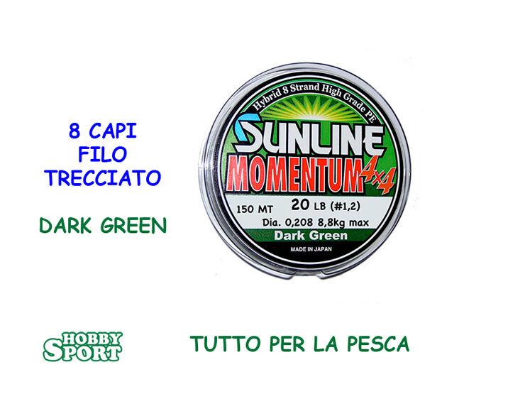 MOMENTUM TRECCIATO MULTIFIBRA 4X4  SUNLINE 20 LIBBRE  150 MT SPINNING