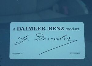 Daimler signed mercedes windshield decal sticker a daimler for A mercedes benz product sticker