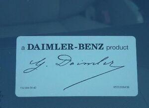 Daimler signed mercedes windshield decal sticker a daimler for A mercedes benz product sticker