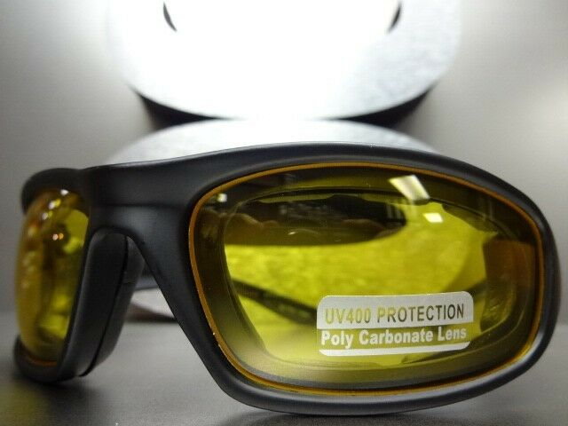 07809448e1db Indian Motorcycle Yellow Night & Day Driving Sunglasse Black Wraparound  Plastic for sale online   eBay