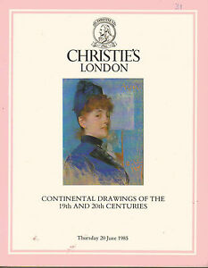 Continental-Drawings-of-the-19th-amp-20th-Centuries-Christies-Auction-Catalogue