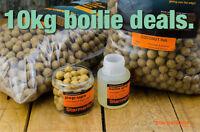 Fish Meal 15mm Carp Fishing Boilie Deals 5kg &10kg Bulk Baits Free Dips & Pop Up