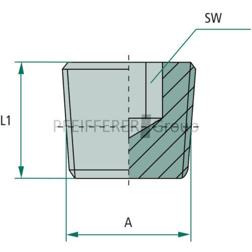 Granit PNB//TNP Adaptateur Bouchon EV 1//2 M-PNB
