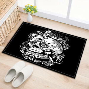 24x16-Bath-Mat-Rug-Halloween-Ghost-Skull-King-Non-Slip-Door-Bathroom-Carpet-2672