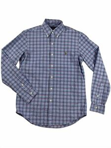 Ralph-Lauren-Polo-Mens-Oxford-Plaid-Blue-Red-Pony-Logo-Button-Down-Shirt-New