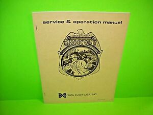 Data-East-SHOOTOUT-Original-Video-Arcade-Game-Service-Repair-Manual-w-Schematics