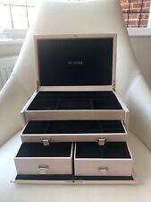 Rare Extra Large Unused Lockable PANDORA Leather Jewellery Box With Key