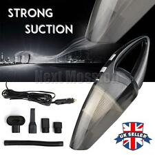 UK 12V 120W Portable Car Vacuum Cleaner Hand Held Wet & Dry Car Van Caravan Vac