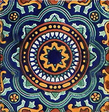 40 PCS Talavera 6X6 Handmade Ceramic Tile Mexican C228