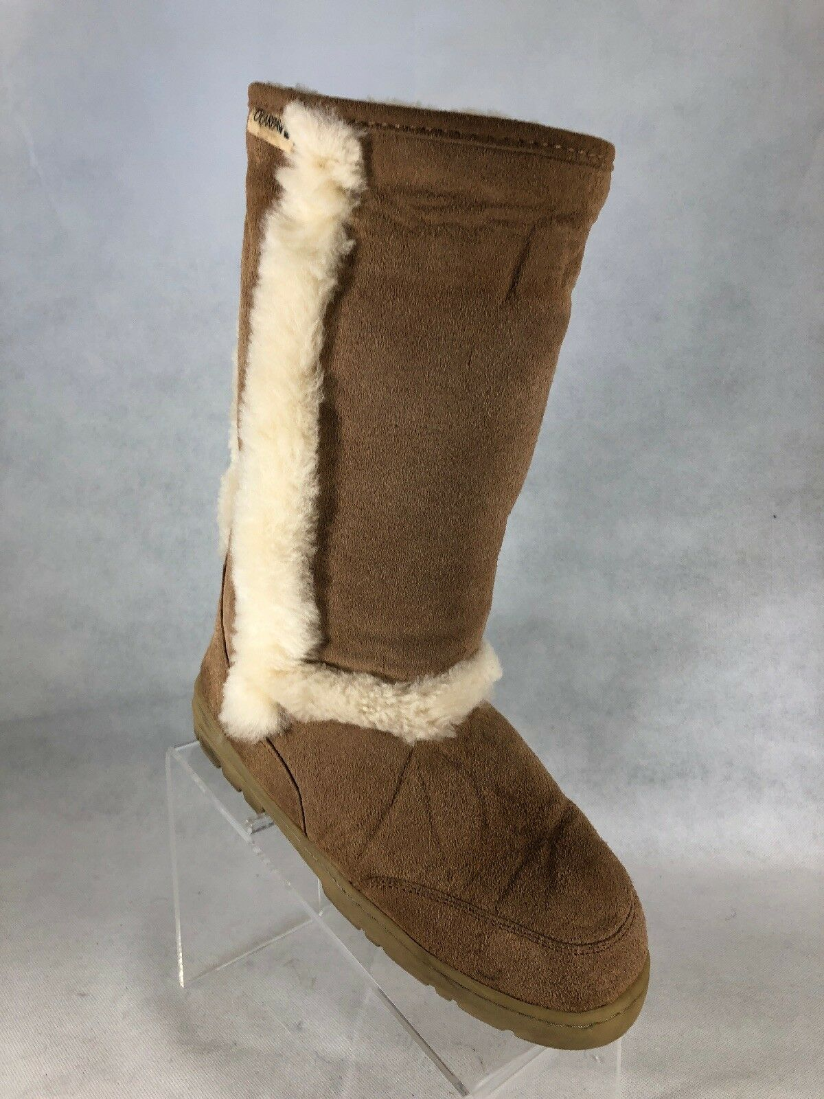 Bearpaw Womens Brown Suede Sheepskin Linings Boots 10 M.        W4