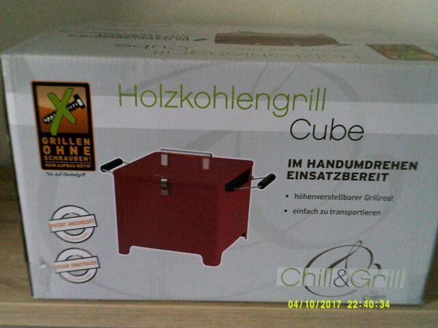 Tepro Holzkohlengrill CUBE  Chill&Grill Grillen ohne Schrauben Grill Kohlegrill