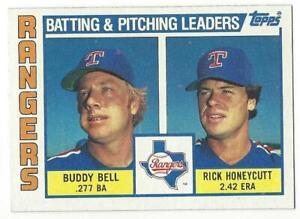 TEXAS-RANGERS-1984-Topps-Batting-amp-Pitching-Leaders-37-NM-MT-BELL-HONEYCUTT