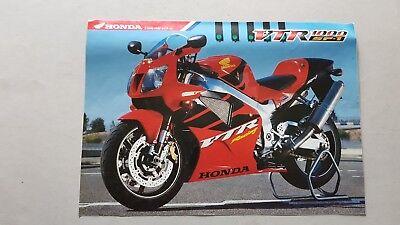 Bellissimo Honda Vtr 1000 Sp1 1999 Depliant Originale Italiano Brochure