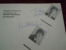 The Beatles John Lennon Paul McCartney Authentic Signed 12/01/63 Autograph NICE!