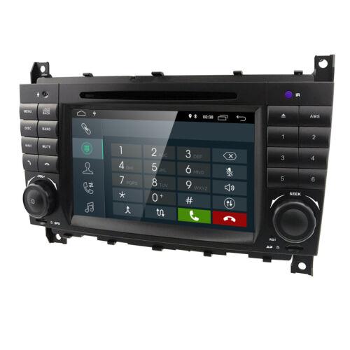 OBD2 TPMS DVR Android 9.1 Autoradio Mercedes C//CLC//CLK Klasse W203 W209 GPS DAB