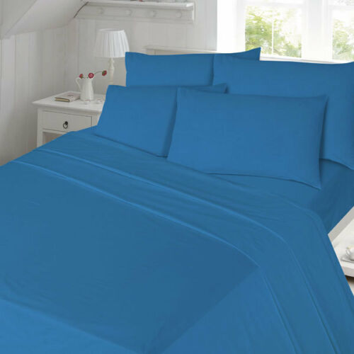 Night Zone 100/% Cotton Plain Dyed Flannelette Extra Deep Fitted Sheet